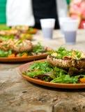 сваренные грибы тарелки Стоковое Изображение