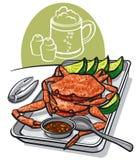Сваренные крабы морепродуктов бесплатная иллюстрация