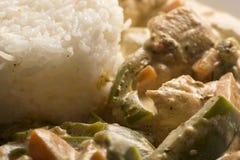 Сваренные рис и цыпленок Стоковое Изображение RF