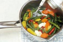 Сваренные смешанные овощи Стоковые Изображения RF