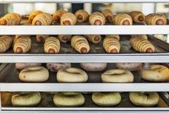 Сваренные хлебы донута Стоковое фото RF