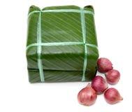 Сваренный квадратный glutinous торт риса, въетнамская еда Нового Года Стоковые Изображения RF