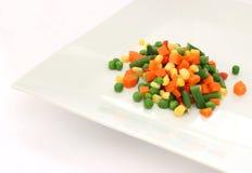 сваренный овощ плиты смешивания Стоковые Изображения