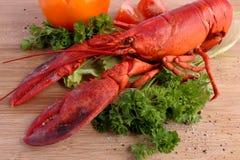 Сваренный омар с различными овощами Стоковые Фотографии RF