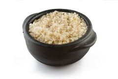 Сваренный рис всего зерна коричневый объединенно Стоковое фото RF