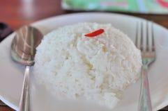 сваренный рис жасмина Стоковая Фотография