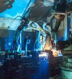 Сваривать роботов Стоковые Изображения RF