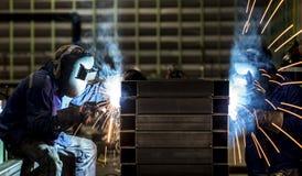 Сваривая стальная структура стоковое фото rf