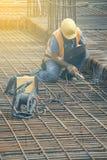 Сваривая angled арматура для бетона усиливая 2 Стоковые Изображения RF