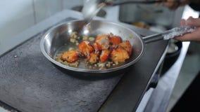 Сварите подготавливать мясо на горячей плите видеоматериал