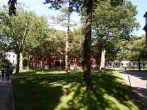 Сварка Hall, двор Гарварда, Гарвардский университет, Кембридж, Массачусетс, США Стоковые Фото