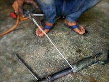 Сварщики сваренные стальные стоковое фото