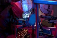 Сварщик раскрывая техническую сталь Стоковое Изображение RF