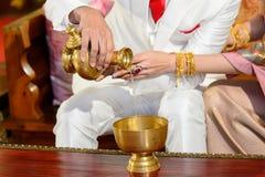 Свадебная церемония буддистом Стоковая Фотография