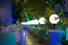 Свадебный банкет ресторана Стоковая Фотография