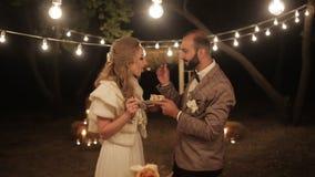 Свадебный пирог одина другого питания жениха и невеста видеоматериал