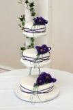 Свадебный пирог. Стоковые Изображения