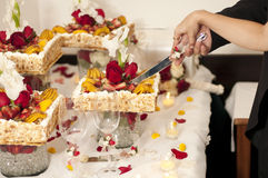 Свадебный пирог стоковые фото