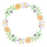 Свадьба лаванды гирлянды венка лета акварели фиолетовая Стоковые Фото