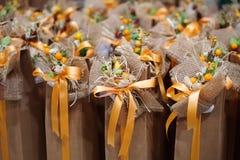 Свадьба благоволит к подарку для гостя Стоковая Фотография