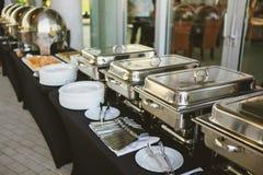 Свадьба еды ресторанного обслуживании Стоковое Изображение RF