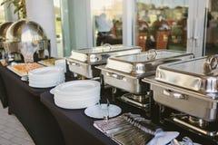Свадьба еды ресторанного обслуживании Стоковые Изображения