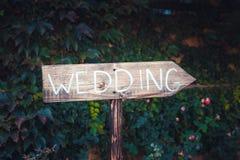 Свадьба индекса плиты Стоковая Фотография