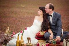 Свадьба и любовная история в природе Стоковая Фотография