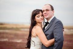 Свадьба и любовная история в природе Стоковые Изображения