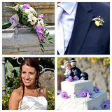 Свадьба коллажа Стоковое Изображение