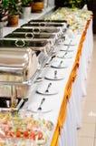 Свадьба ресторанного обслуживании Стоковая Фотография