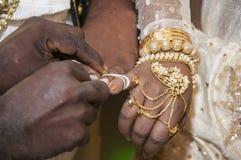 Свадьба Sinhala традиционная Стоковое фото RF