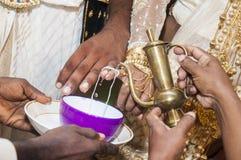 Свадьба Sinhala традиционная Стоковое Изображение