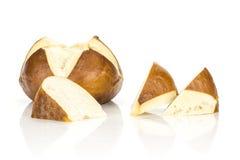 Свежая баварская плюшка хлеба изолированная на белизне Стоковые Фото