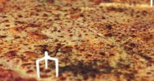 Свежая вкусная пицца в коробке сток-видео