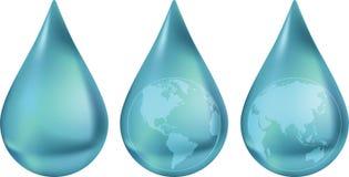 свежая гловальная вода источника Стоковые Изображения
