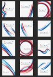 Свежая голубая и красная линия волны иллюстрация штока