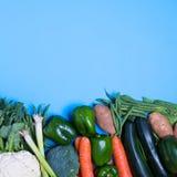 Свежая группа в составе овощи Стоковое Фото