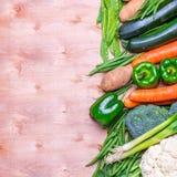Свежая группа в составе овощи Стоковые Изображения