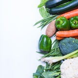 Свежая группа в составе овощи Стоковое Изображение