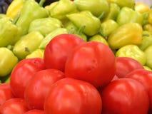Свежая еда на рынке Стоковая Фотография
