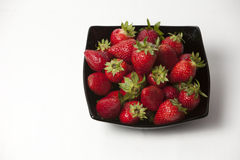 Свежая зрелая совершенная клубника - предпосылка рамки еды Стоковое фото RF