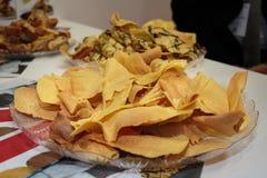 Свежая итальянка Brigidini: Тонкая, кудрявая вафля Aniseed стоковые фото