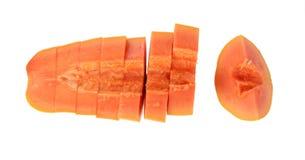 Свежая и вкусная изолированная папапайя Стоковые Фото