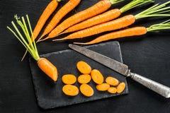 Свежая и сладостная морковь Стоковое Изображение RF