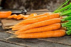 Свежая и сладостная морковь Стоковая Фотография