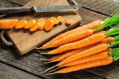 Свежая и сладостная морковь Стоковые Изображения RF