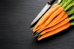 Свежая и сладостная морковь Стоковое фото RF