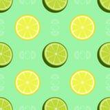 Свежая картина лимона и известки безшовная стоковое изображение rf