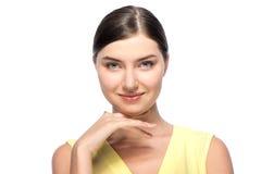 Свежая красивая изолированная молодая женщина, Стоковая Фотография RF